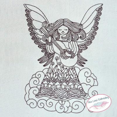 Stickdatei Engel mit Gitarre