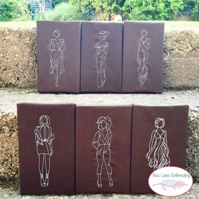 Stickdatei Fashion Girls, 6 modische Damen in je 5 Größen,