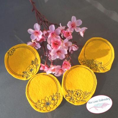 Stickdateien Set Florale Rahmen