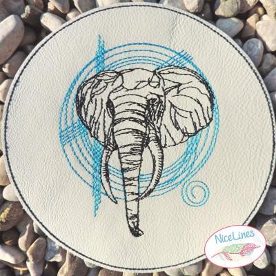Weisheit Skizze in 5 elefantösen Größen