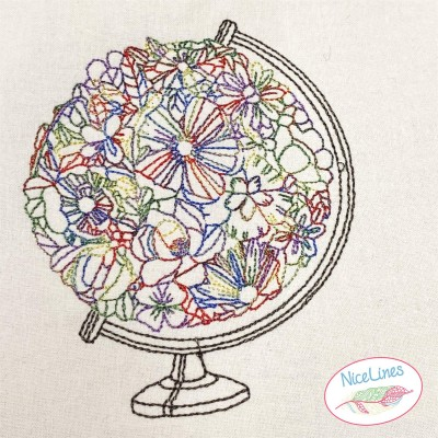 Stickdatei Blumenglobus