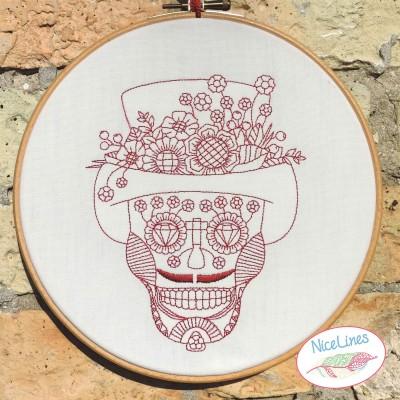Stickdatei Skull Mexico