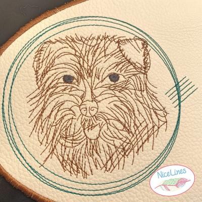 Stickdatei Norfolk Terrier