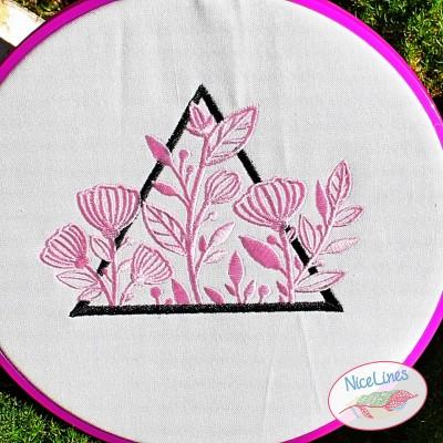 Stickdatei Triangle Blumen