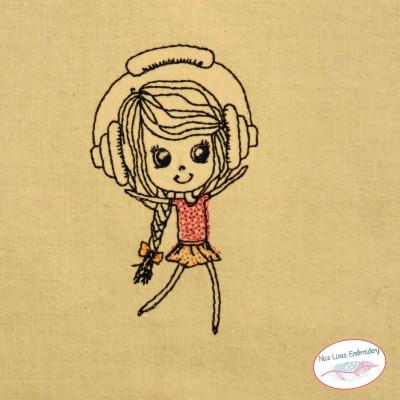 Musik-Girlie Stickdatei