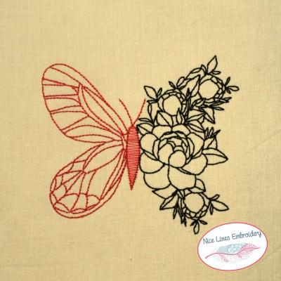 Stickdateien Set Schmetterlinge