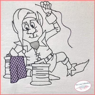 Stickdatei Schneider Gnome