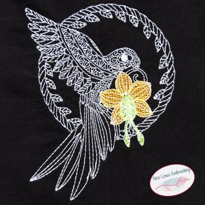 Stickdatei Zen Papagei