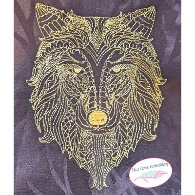 Stickdatei Zen Wolf