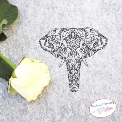 Stickdatei Zen Elefant